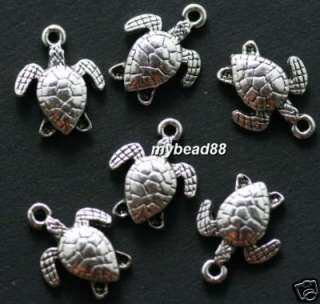 50pcs tibet silver sea turtles charms