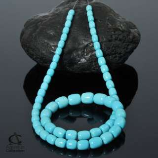 Strand SLEEPING BEAUTY TURQUOISE Rondelle BEADS 14 inch