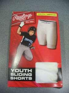 NEW Rawlings Youth Baseball Softball Slider Sliding Shorts Medium or