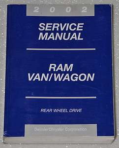 RAM 1500 2500 3500 VAN & WAGON Dealer Shop Service Repair Manual Book