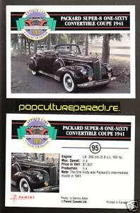 1941 PACKARD SUPER 8 160 CONVERTIBLE COUPE Car CARD |