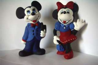 MICKEY AND MINNIE MOUSE CERAMIC STATUES
