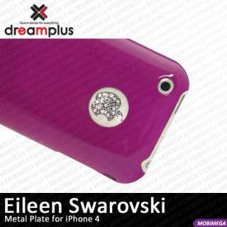 Dreamplus Swarovski iPhone 4 Logo Button Metal Sticker