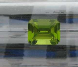 81 CT. NATURAL PERIDOT EMERALD CUT 9 X 7 MM