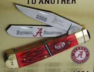 Alabama Crimson Tide 2009 BCS National Champions Knife Trapper