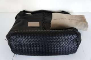 NWT Bottega Veneta Large Leather Shoulder Bag, Black MSRP $2390