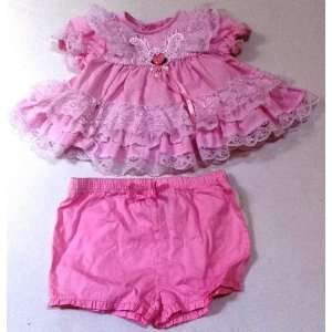 Baby Girl 6 9 Months, Old Fashioned Frock and Diaper Cover