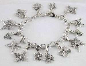 Tibetan silver Butterfly dragonfly bracelet E20002