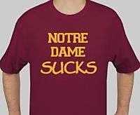 BC BOSTON COLLEGE NOTRE DAME SUCKS T SHIRT S Large XXL