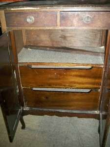 Vintage Antique Cabinet Dresser Pantry Foyer Counter top storage wood
