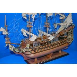 32 Soleil Royal French Historcal Wooden Model Ship Home