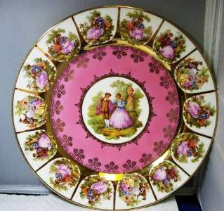 Carlsbad Bavaria Courtship Gold Pink PLATE 11