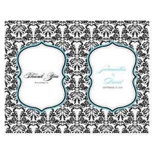 Love Bird Damask Personalized Wedding Programs 24/pk