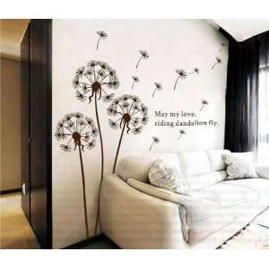 Dandelion nursery kids room removable quote vinyl wall decals stickers