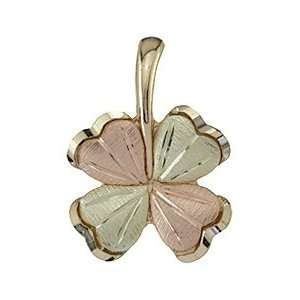 Black Hills Gold 10K Four Leaf Clover Pendant Jewelry
