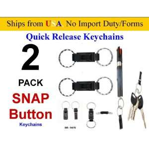 2 Pack SNAP BUTTON PULL APART SUPER QUICK RELEASE KEY