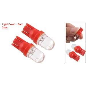 2Pcs Side Dashboard Car Auto Wedge LED Light Lamp Red Automotive