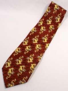 Dragons Kai Long Hand Made 100% Silk Neck Tie Necktie Designer