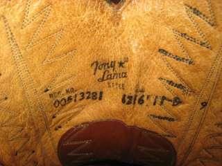 TONY LAMA Vintage Black Leather Vamp Classic Cowboy Boots Men 11 D AS