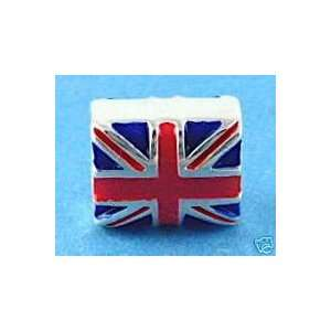 Sterling Silver and Enamel British Flag (Union Jack)   fits Pandora