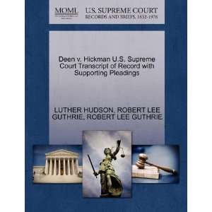 Pleadings (9781270438267) LUTHER HUDSON, ROBERT LEE GUTHRIE Books