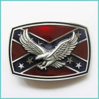 Flag Southern Pride Soaring Eagle Belt Buckle 3D 047
