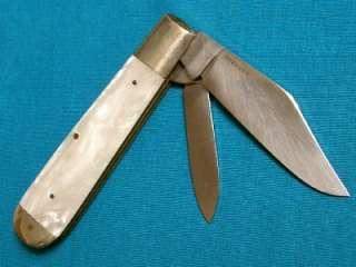 NM VINTAGE 60S WINCHESTER GERMAN JUMBO JACK KNIFE KNIVES POCKET GOLD