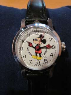 Working Bradley Mickey Mouse Wind UP Collector Watch
