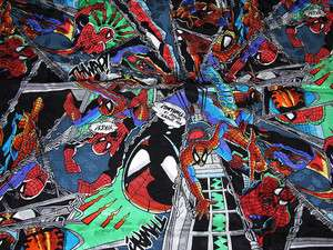 MILLER MARVEL COMICS SPIDERMAN HAND SEWN SILK 43X43 SCARF TINA BERRY