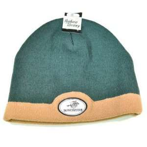 WINCHESTER AMMO HUNTING BEANIE KNIT TOQUE HAT CAP GREEN