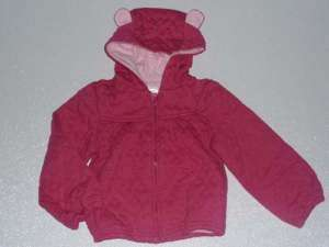 NWT Gymboree Little Heart Pink Quilted Jacket Ears 4/4T