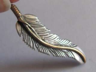NAVAJO FEATHER Sterling Silver H.MACE PENDANT/Charm