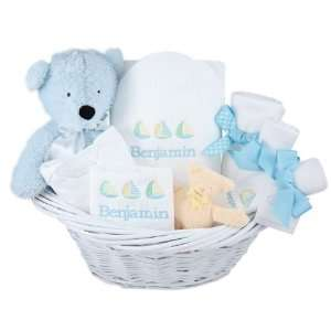 personalized deluxe baby boy gift basket Baby