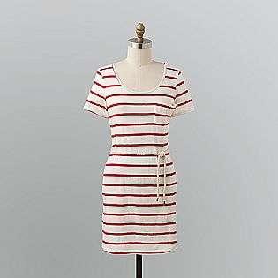 Womens Striped T Shirt Dress  Route 66 Clothing Womens Dresses