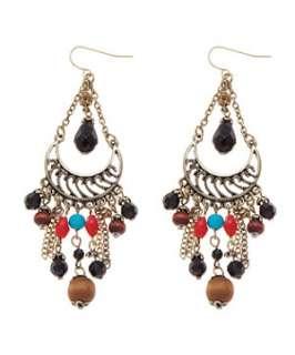 null (Multi Col) Beaded Chandelier Earrings  247615799  New Look