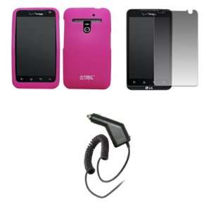 EMPIRE Hot Pink Silicone Skin Case Cover + Screen