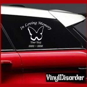 Loving Memory Custom Car or Wall Vinyl Decal Stickers
