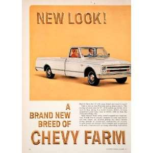 1966 Ad 1967 Chevy Farm Fleetside Pickup Truck Cab General