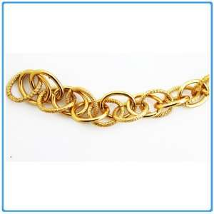 DIY Jewelry Making 1 yard of Aluminum Double Link Chains, Gold, Size