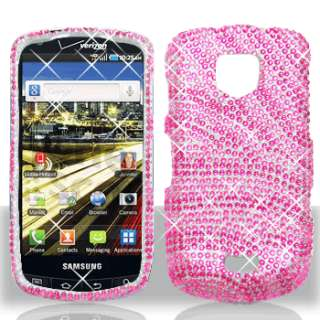 Pink Zebra Bling Case Phone Cover Samsung Droid Charge