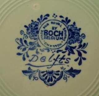 VINTAGE BOCH BELGIUM DELFT 12 1/4 BOAR HUNTING SCENE CHARGER