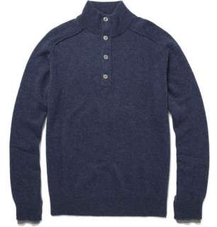 Knitwear  Rollnecks  Reverse Seam Wool Blend Sweater