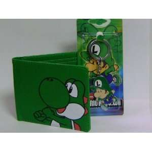 New Super Mario Bros. Green Wallet and Keychain Toys