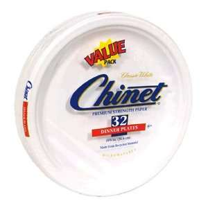 Chinet Classic White Dinner Plates, 10 3/8 Inch, Value