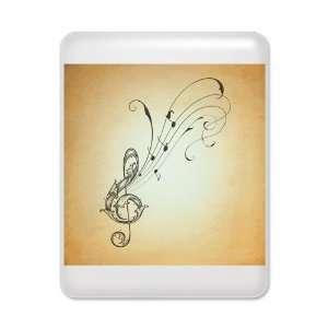 iPad Case White Treble Clef Music Notes