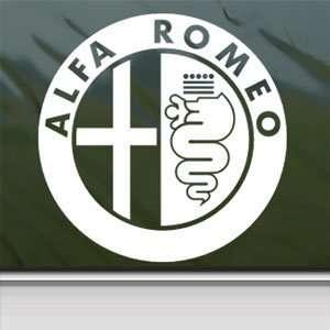 Alfa Romeo White Sticker Window Vinyl Laptop White Decal