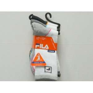 Ladies Fila Crew Cut Socks  3 pair pack