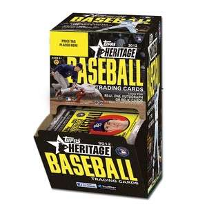 2012 Topps Heritage Baseball Factory Sealed Gravity Feed Box NEW