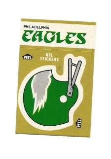 1982 FLEER PHILADELPHIA EAGLES STICKERS SCHEDULE CARD