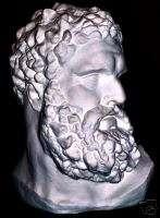 Greek sculpture Hercules Bust Lissypus Fragment Huge